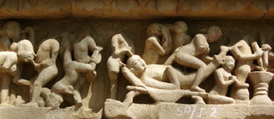 The sex sculptures. Khajuraho temple of Love